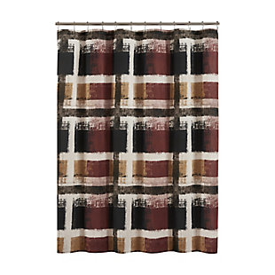 Oscar Oliver Percy Shower Curtain, Amber Rust, large