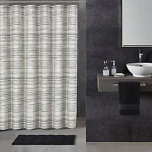Oscar Oliver Alfio Shower Curtain, Black/Gray, rollover