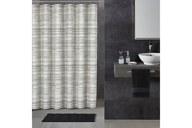 Oscar Oliver Alfio Shower Curtain, Black/Gray, large