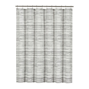 Oscar Oliver Alfio Shower Curtain, Black/Gray, large