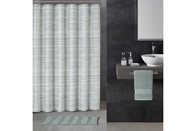 Oscar Oliver Alfio Shower Curtain, Seafoam Blue, large