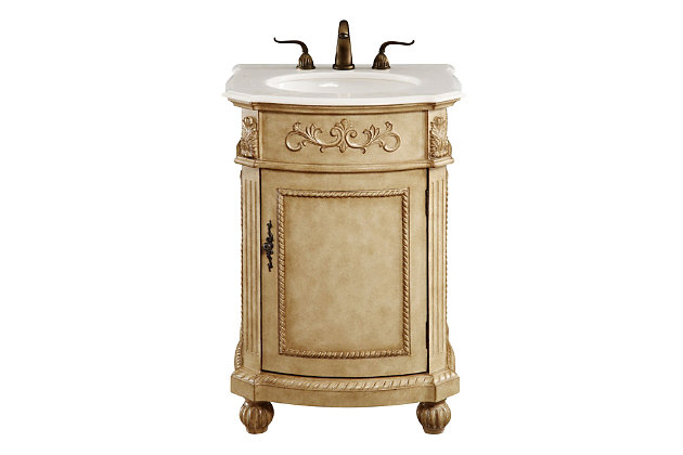 "Danville 24"" Single Bathroom Vanity Set, Antique Beige, large"