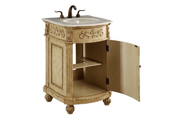 "Danville 24"" Single Bathroom Vanity Set, Antique Beige, large"