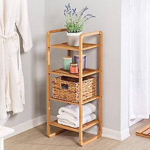 Honey-Can-Do 4-Tier Vertical Bamboo Shelf, , rollover