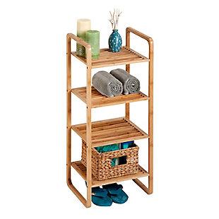 Honey-Can-Do 4-Tier Vertical Bamboo Shelf, , large