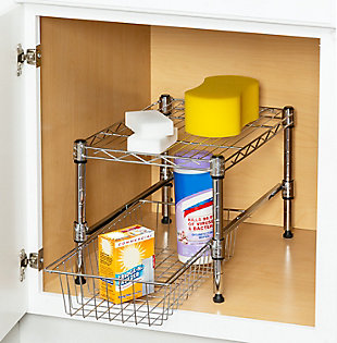 Honey-Can-Do Stacking Cabinet Organizer, , rollover