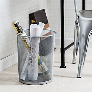 Honey-Can-Do Mesh Metal Trash Can, , rollover