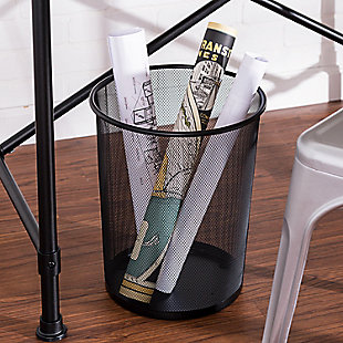 Honey-Can-Do Small Wire Mesh Trash Can, , rollover