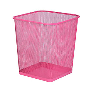 Honey-Can-Do Mesh Metal Trash Can, , large