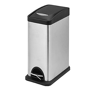 Honey-Can-Do 8L Rectangular Stainless Steel Step Can, , large