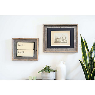 "Study Signature Picture Frame Matted for 11 x 14"" Photos- 100% Reclaimed Wood, Black Mat, , rollover"