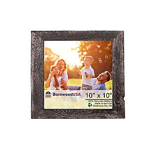 """Study Farmhouse 10 x 10"""" Picture Frame - 100% Up-Cycled Reclaimed Wood, Smoky Black, , large"""