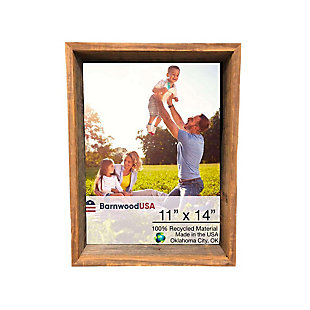 "Study Rustic Farmhouse 11 x 14"" Shadow Box Picture Frame - 100% Reclaimed and Recycled Wood, , large"
