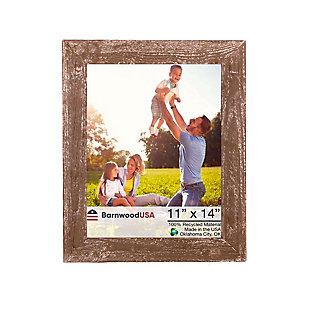 """Farmhouse 11 x 14"""" Picture Frame - 100% Up-Cycled Reclaimed Wood, Espresso, , large"""