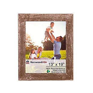 "Branch 13 x 19"" Rustic Farmhouse Picture Frame - 100% Reclaimed Wood, Espresso, , large"