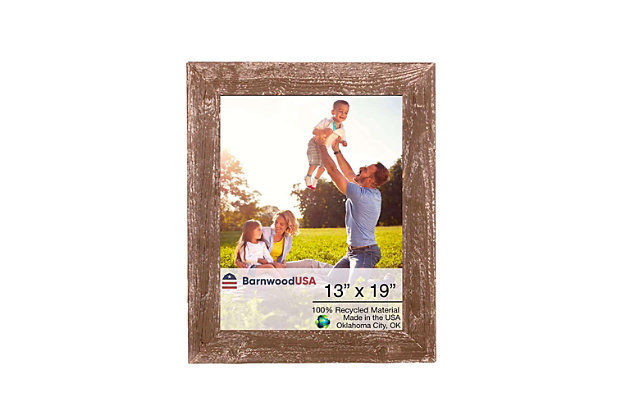 """Branch 13 x 19"""" Rustic Farmhouse Picture Frame - 100% Reclaimed Wood, Espresso, , large"""