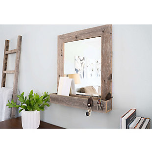 "Large Farmhouse 16 x 20"" Mirror with Reclaimed Wood Shelf, , rollover"