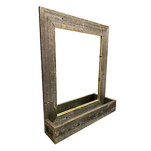 "Large Farmhouse 16 x 20"" Mirror with Reclaimed Wood Shelf, , large"