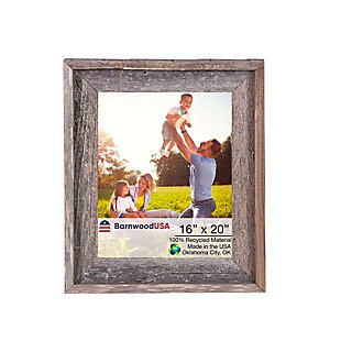 """Gray Rustic Farmhouse 16 x 20"""" Picture Frame - 100% Reclaimed Wood, , large"""