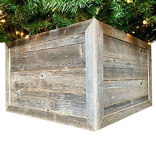Intriguing Tree Box Collar - 100% Reclaimed & Recycled Wood, , large