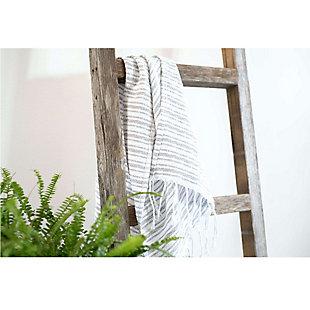 Gray 4 Ft. Rustic Farmhouse Decorative Ladder, , rollover