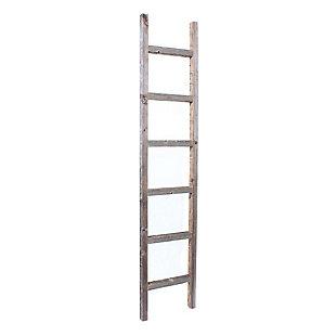 Gray 6 Ft. Rustic Farmhouse Decorative Ladder, , large