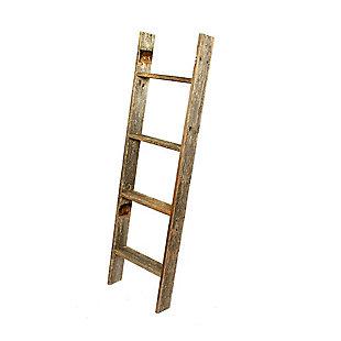 Gray 4 Ft. Rustic Farmhouse Blanket Ladder, Gray, large