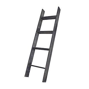 Black 4 Ft. Rustic Farmhouse Blanket Ladder, Black, large
