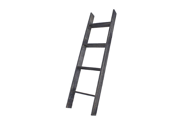 Black 4 Ft Rustic Farmhouse Blanket Ladder Ashley Furniture Homestore
