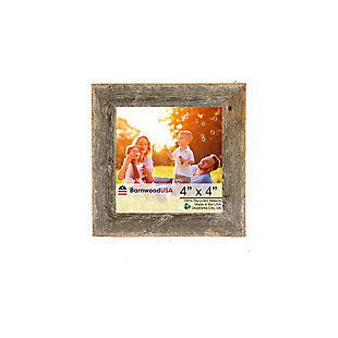 "Gray Farmhouse 4 x 4"" Picture Frame - 100% Up-Cycled Reclaimed Wood, , large"