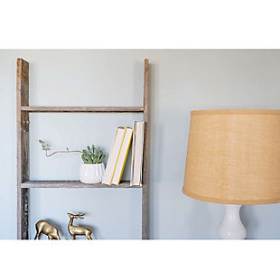 Gray 5 Ft. Rustic Farmhouse Blanket Ladder - 100% Recycled and Reclaimed Wood, , large