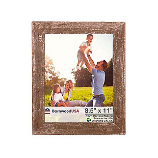 """Rustic Farmhouse 8.5 x 11"""" Picture Frame - 100% Reclaimed Wood, Espresso, , large"""