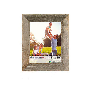 """Rustic 8 x 10"""" Picture Frame - 100% Reclaimed Wood, Weathered Gray, , large"""