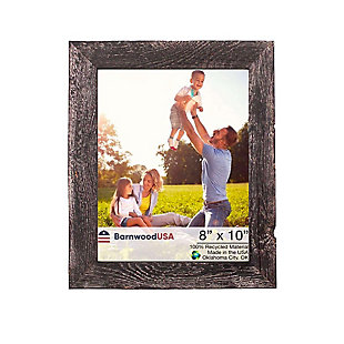 "Rustic Farmhouse 8 x 10"" Picture Frame - 100% Reclaimed Wood, Smokey Black, , large"