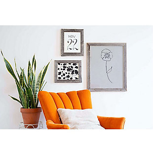 """Rustic 8 x 8"""" Picture Frame - 100% Reclaimed Wood, Weathered Gray, , rollover"""