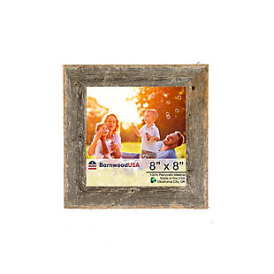 """Rustic 8 x 8"""" Picture Frame - 100% Reclaimed Wood, Weathered Gray, , large"""