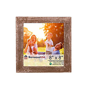 """Rustic 8 x 8"""" Picture Frame - 100% Reclaimed Wood, Espresso, , large"""