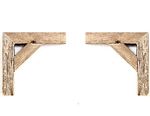 Corbels 100% Up-Cycled Reclaimed Wood (Set of 2), , large