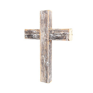 "Recycled Wood Decorative 12x15x2"" Cross, Weathered Gray, , large"