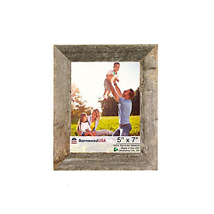 """Rustic 5 x 7"""" Picture Frame - 100% Reclaimed Wood, Weathered Gray, , large"""