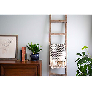 Gray 6 Ft. Rustic Farmhouse Decorative Ladder - 100% Recycled and Reclaimed Wood, , rollover