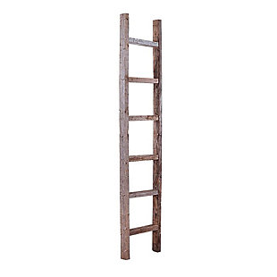 Gray 6 Ft. Rustic Farmhouse Decorative Ladder - 100% Recycled and Reclaimed Wood, , large