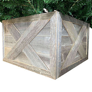 Tree Box - 100% Reclaimed & Recycled Wood, Natural Weathered Gray, , large