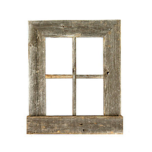 "Window 22x18x4"" Planter Frame - 100% Reclaimed Wood, Weathered Gray, , large"