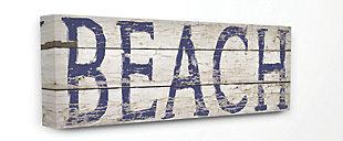 Distressed Plank Beach 13x30 Canvas Wall Art, , large