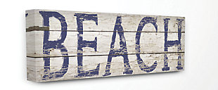 Distressed Plank Beach 17x40 Canvas Wall Art, , large