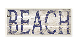 Distressed Plank Beach 7x17 Wall Plaque, , large