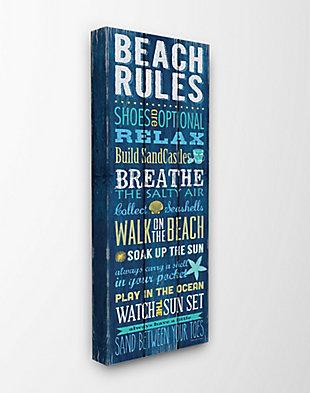 Beach Rules Relax Breathe 13x30 Canvas Wall Art, Multi, large