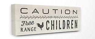 Caution Free Range Children 20x48 Canvas Wall Art, , large