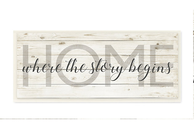 Story Begins Family Home Inspirational 7x17 Wall Plaque, , large